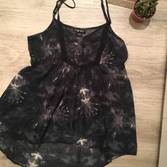 Timing Tops - High-Low See-Through Top